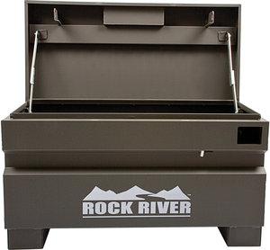 36 w x 21 1 4 h x 17 d gray rock river jobsite storage for Bulk river rock for sale near me