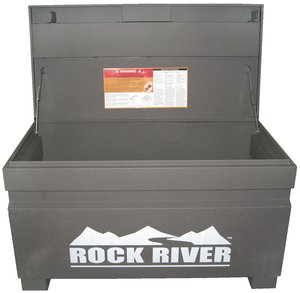 48 w x 28 1 4 h x 24 d gray rock river jobsite storage for Bulk river rock for sale near me