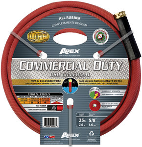 58 x 25 ft Red Rubber Commercial Duty Garden Hose Fastenal