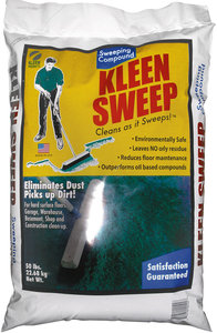 50lb Poly Bag Green Floor Sweeping Compound Fastenal