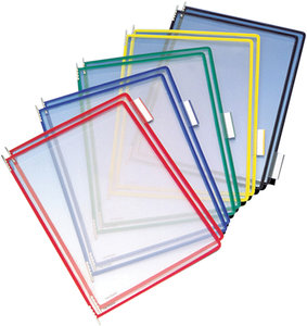 Assorted Color Wire-Framed Plastic Document Protector Pocket | Fastenal